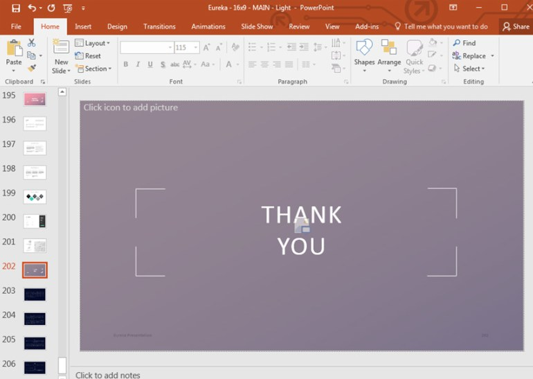 Thank you powerpoint slide