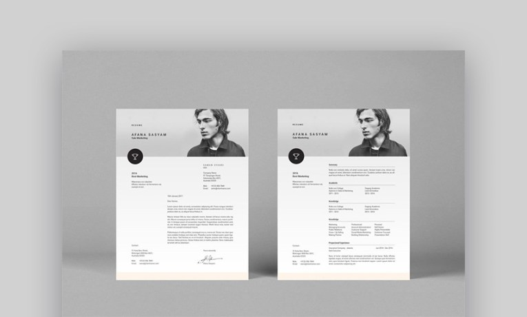 18 Best Photoshop  PSD  Resume Templates  With Photo Formats  Resume format template