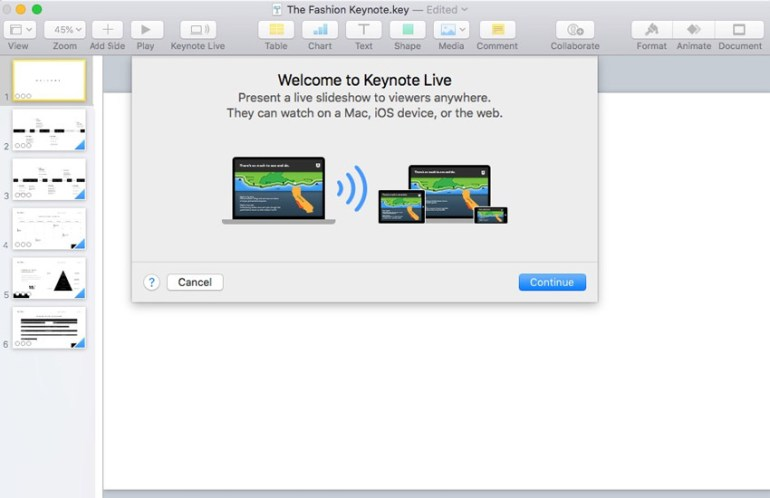 Welcome to Keynote Live