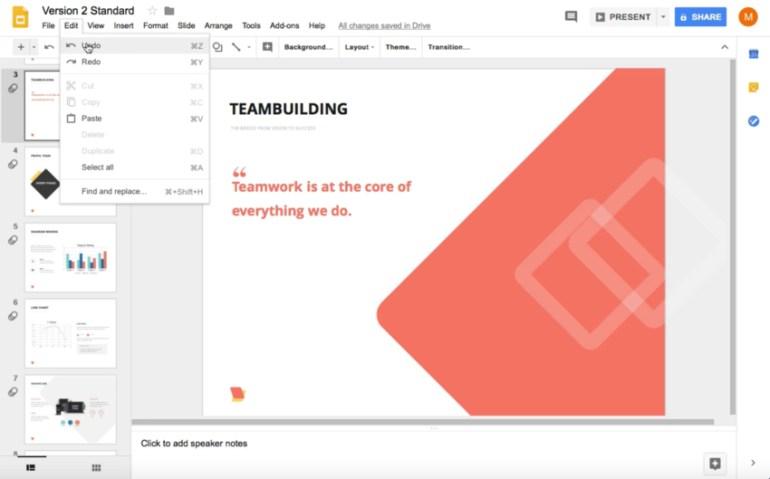 Undo delete text box on Google Slide