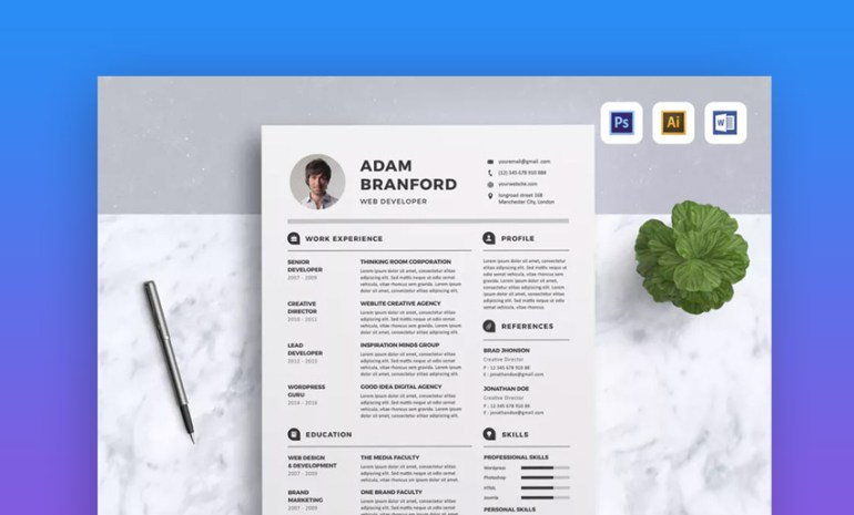Resume Minimal and Creative