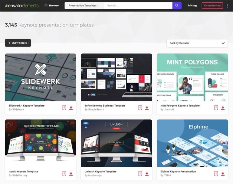 Envato Elements Keynote Presentations