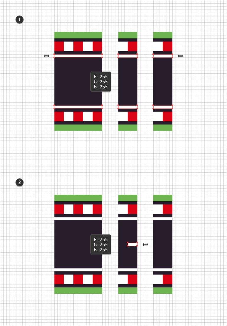 white rectangles