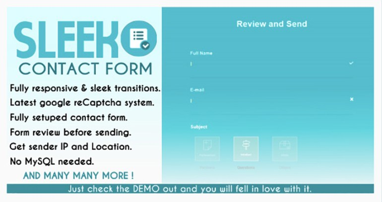 SLEEK Contact Form