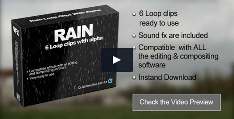Rain with Alpha Channel