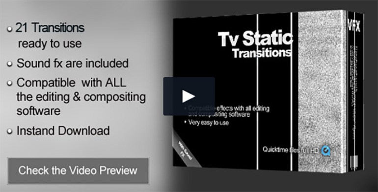 TV Static Transitions Pack