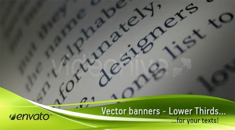 Vector Lower Thirds