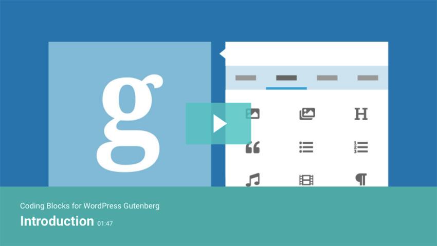 Coding Blocks for WordPress Gutenberg