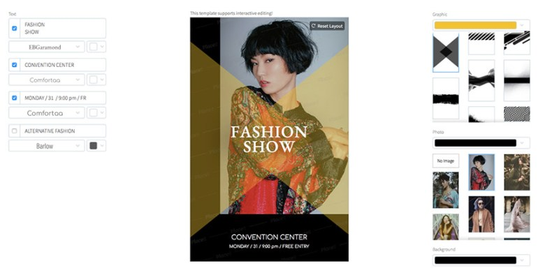 Online Flyer Maker for Fashion Shows