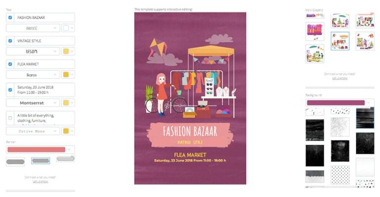 Online Flyer Maker for a Flea Market