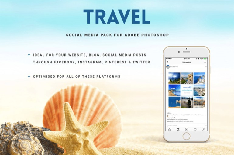 Travel Social Media Pack