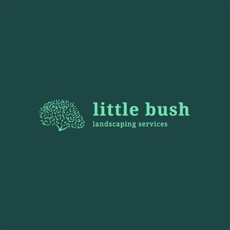 Logo Design Template with Bush Graphics