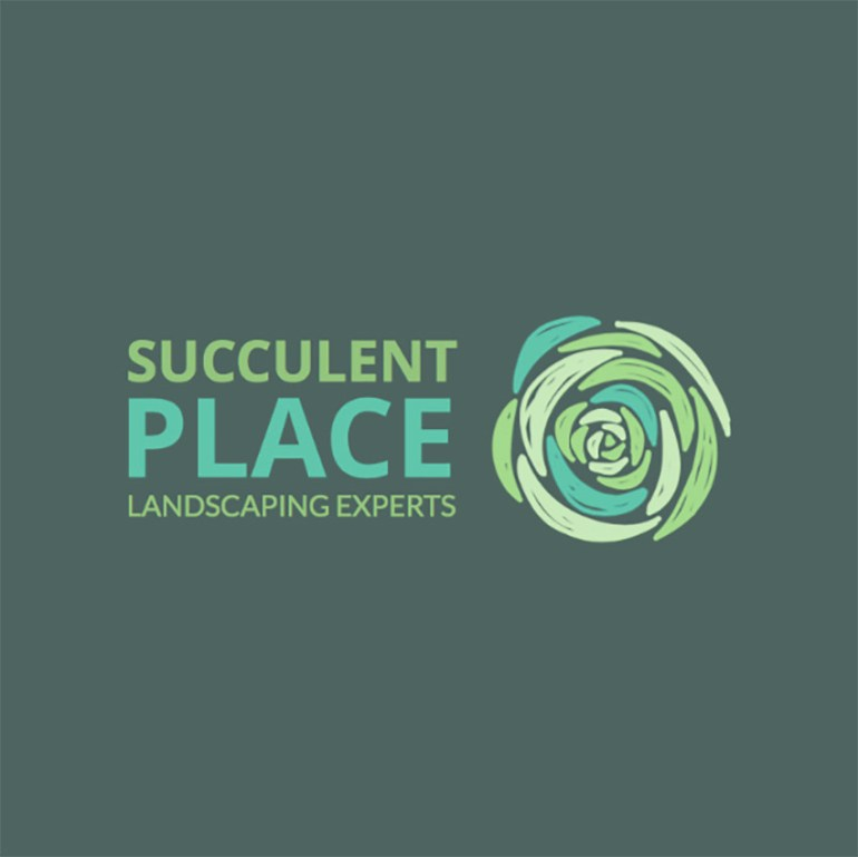 Logo Maker for a Landscaping Business with Succulent Graphic