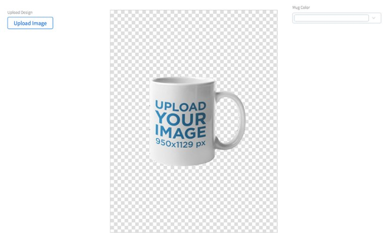 Coffee Mug Mockup Against a Transparent Backdrop