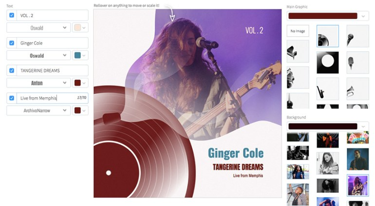 Minimalist Jazz Album Cover Template