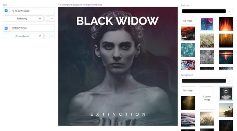 Black Widow Rock Album Cover Template