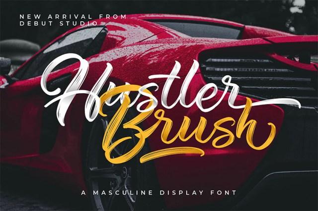Phông chữ Hustler Brush Script có đuôi