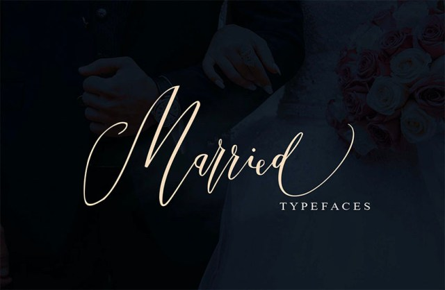 Phông chữ ký tên đã kết hôn có đuôi