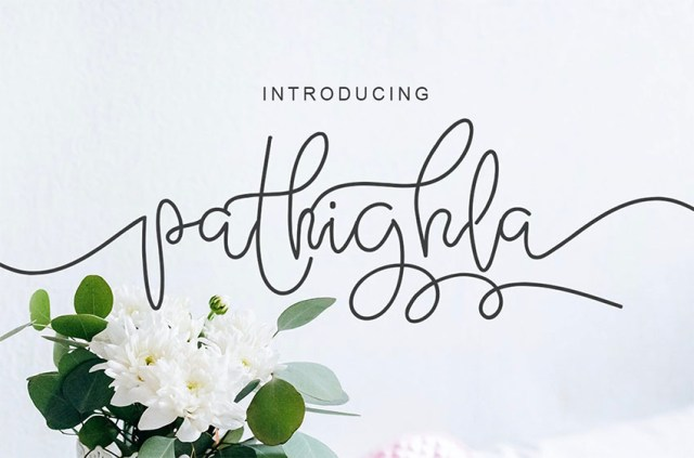 Phông chữ Pathigla với Đuôi dài