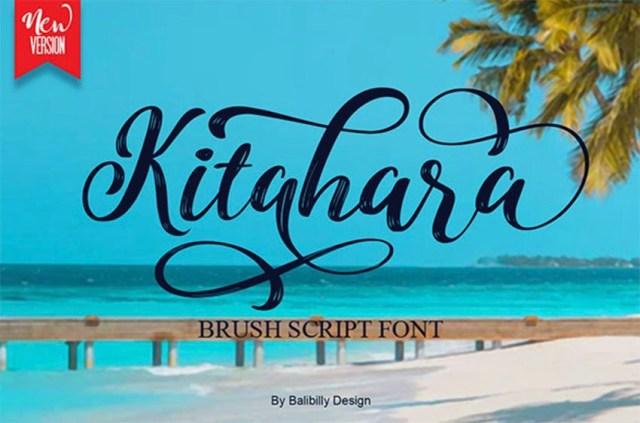 Phông chữ Kitahara Brush Script có đuôi