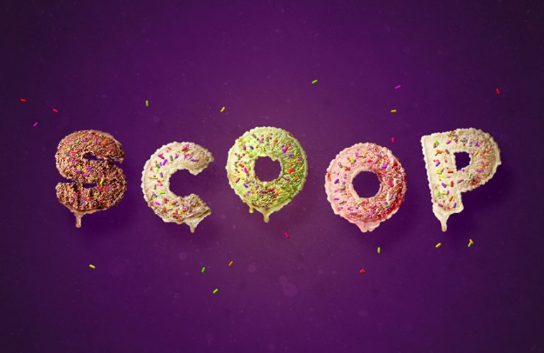 Ice Cream Scoop Text Effect Photoshop Tutorial