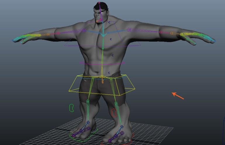 Upper torso rigging is completed