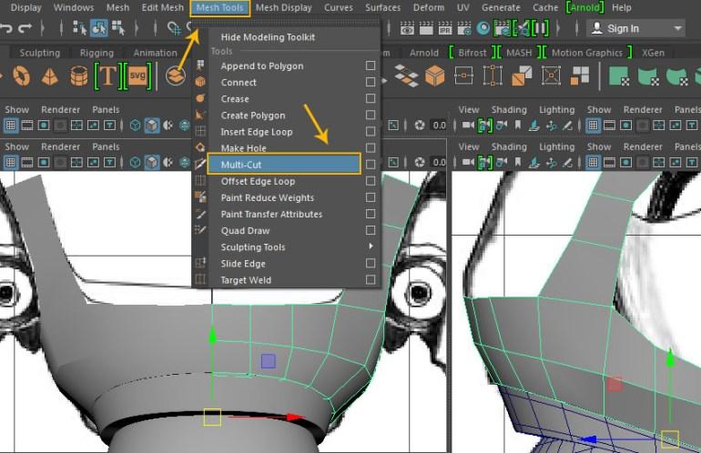 Mesh Tool  Multi-Cut