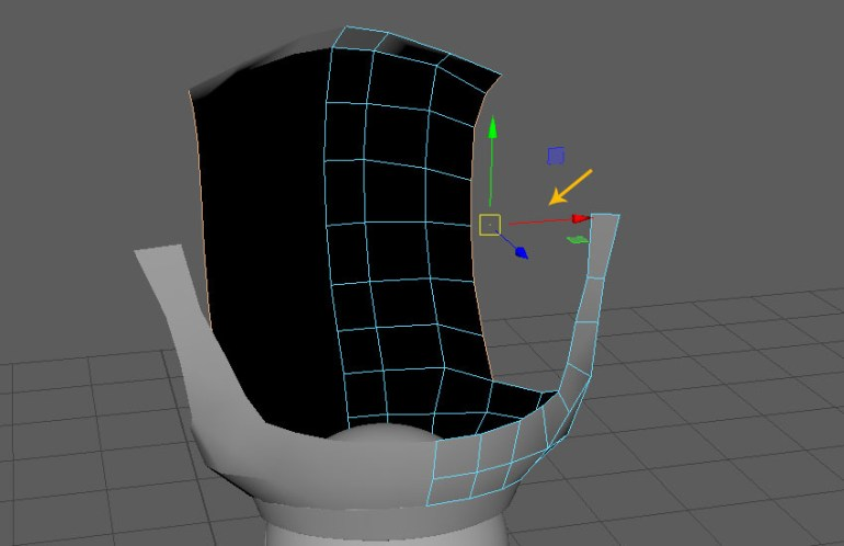 Extrude the indicated edge loop
