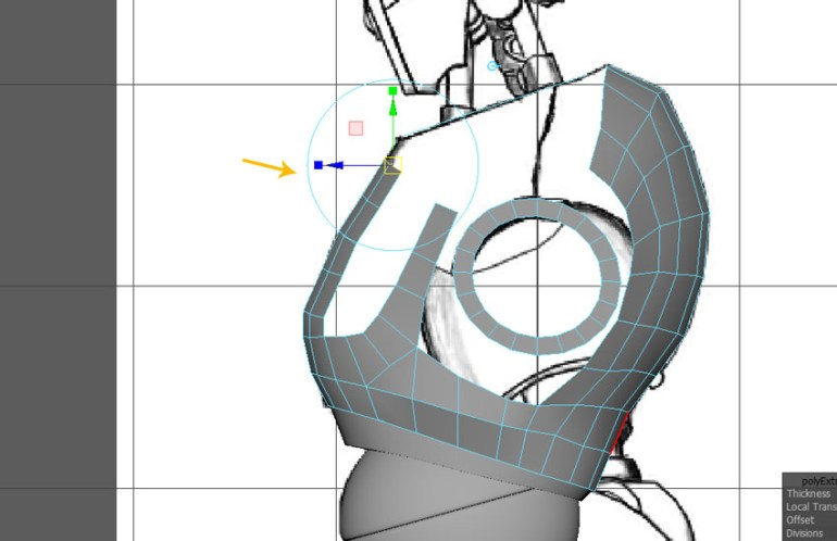 Jump in the side view and keep extruding the selected edges