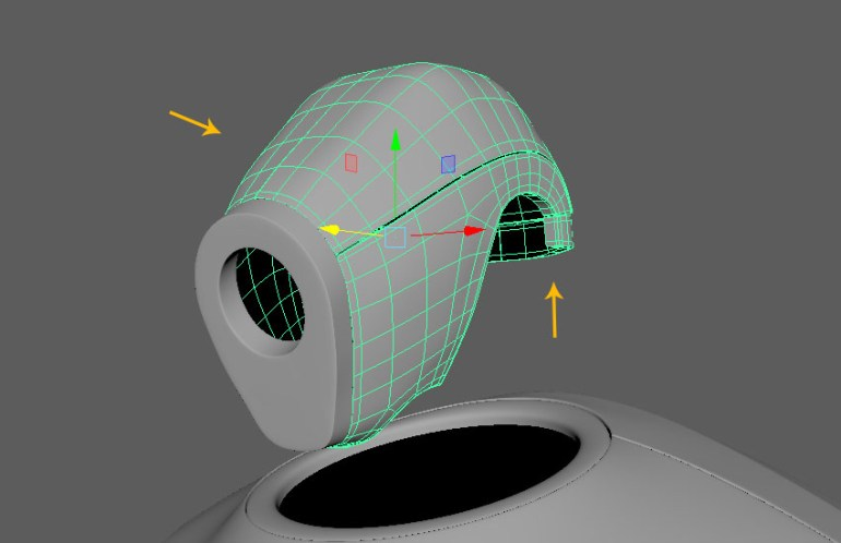Combine the head top meshes together