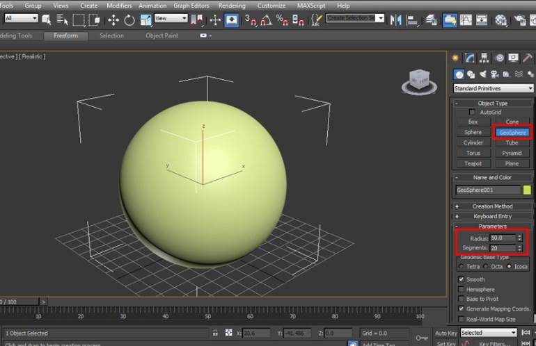 Create a GeoSphere