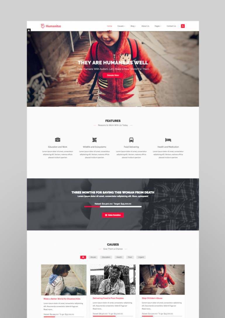Humanitas WordPress Charity Donation Theme