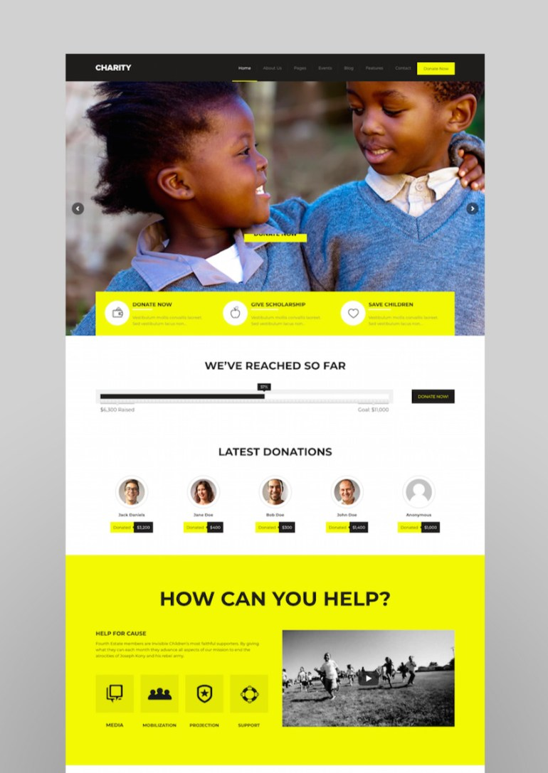 Charity - FoundationFundraising WordPress Theme