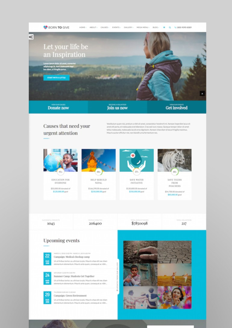 Born To Give - Charity Crowdfunding Responsive WordPress Theme