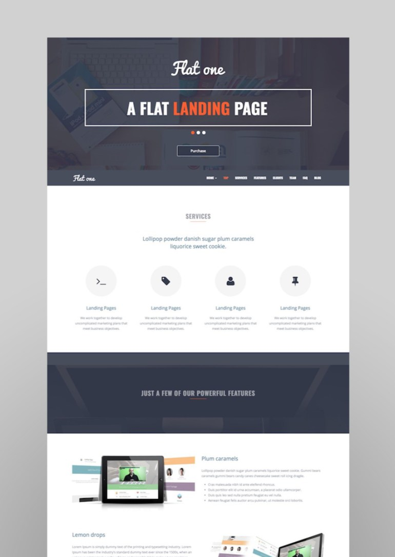 Flatone Sales and Marketing Landing Page