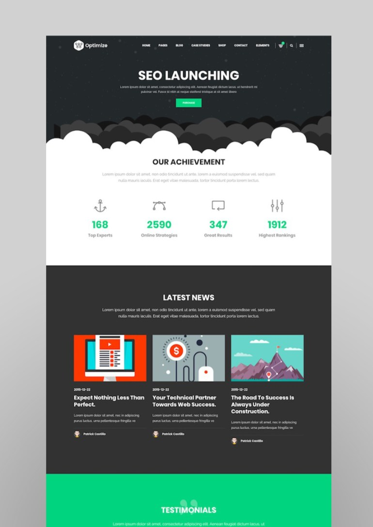 Optimize - SEO Digital Marketing Social Media Theme
