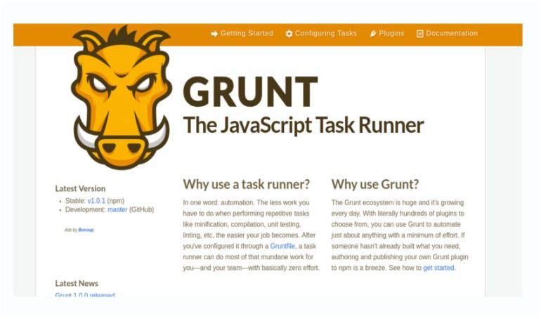 Grunt the JavaScript task runner