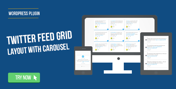 Twitter Feed Grid With Carousel