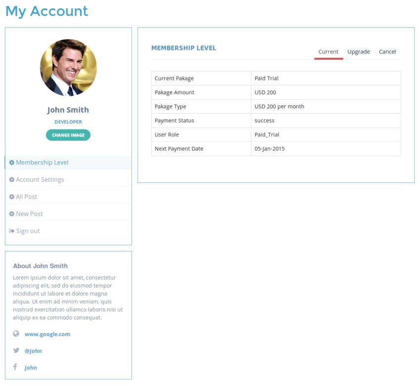 WP Membership plugin