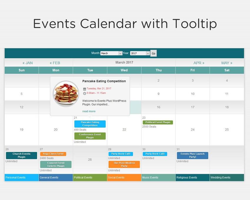 Event Calendar Registration and Booking