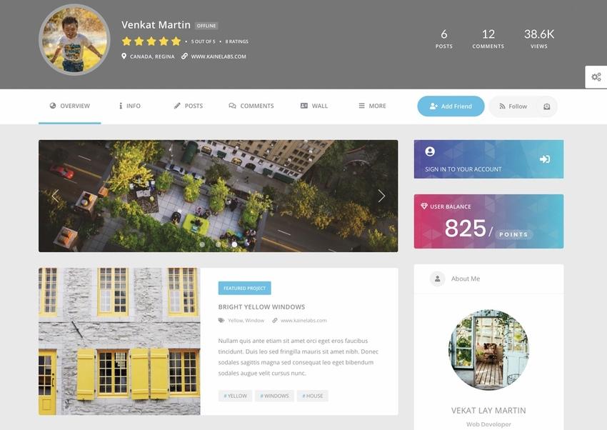 Youzer BuddyPress Community WordPress User Profile