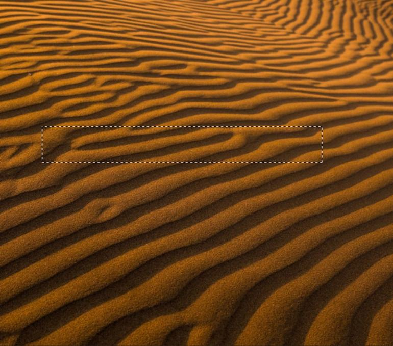 Selecting a part of the desert picture