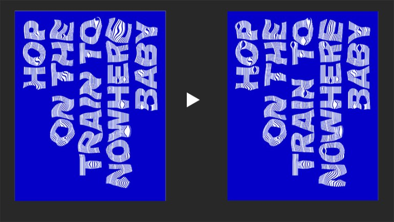 Use the Forward Warp Tool to bring letters back into shape to create a legible poster