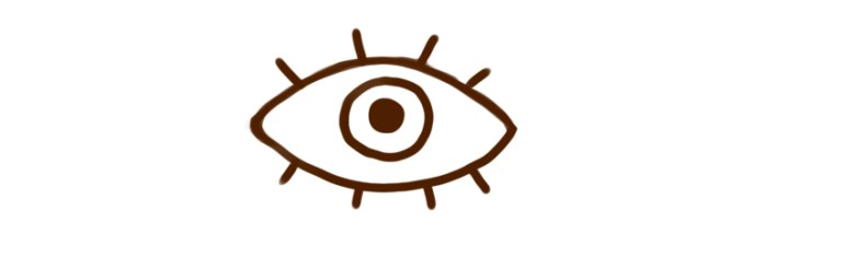 Example of symbol representing an eye