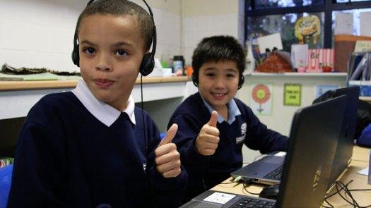 2 kids at a Code Club