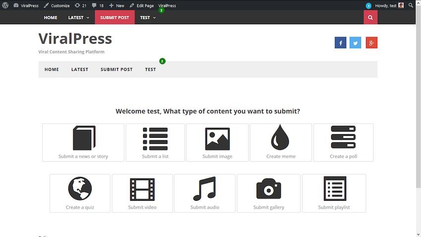 ViralPress plugin