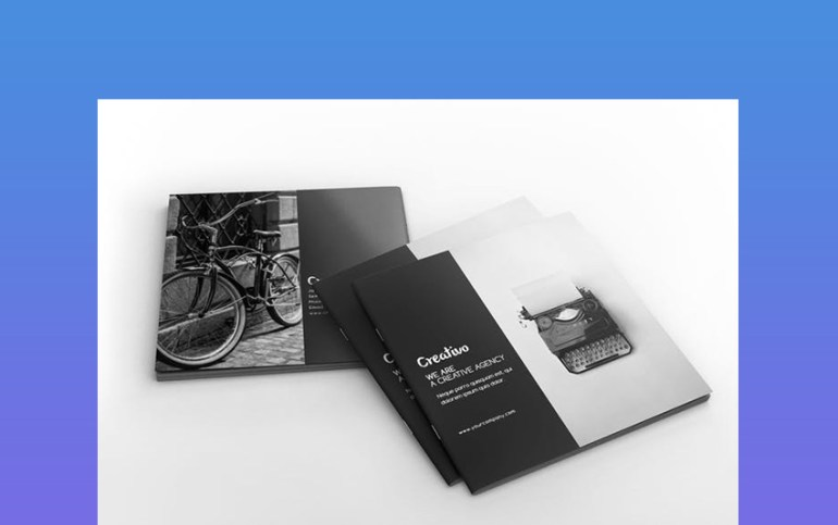Creative Agency Square Portfolio Brochure InDesign Template