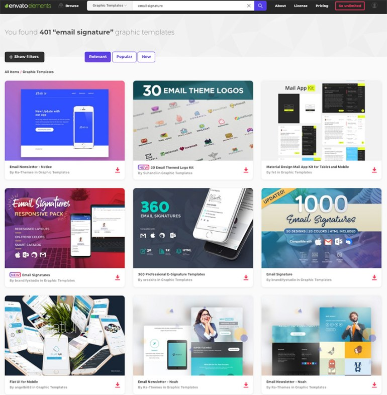 Creative Email Signature Templates on Envato Elements for 2018