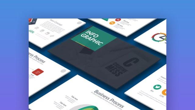 Modello di presentazione PPT di PowerPoint infografica