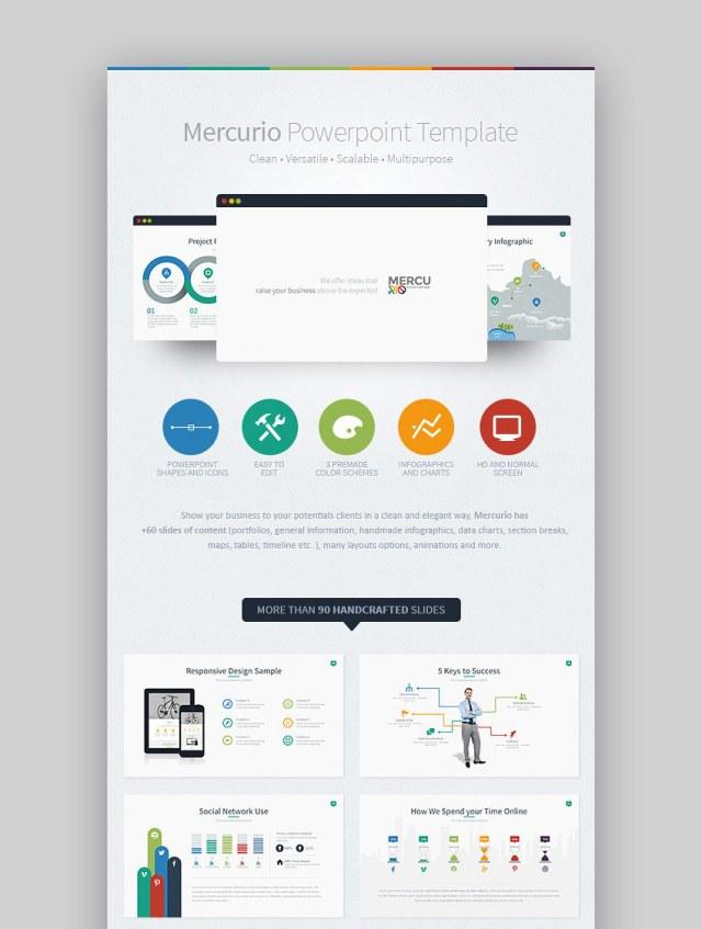Tema PPT di Mercurio Graphic Business PowerPoint
